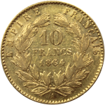 10-Francs-Napoleon-Tete-Lauree-Or-Revers