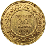 20-Francs-Tunisie-Or-Revers