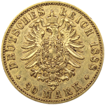 20-Reichsmarks-Allemagne-Or-Revers